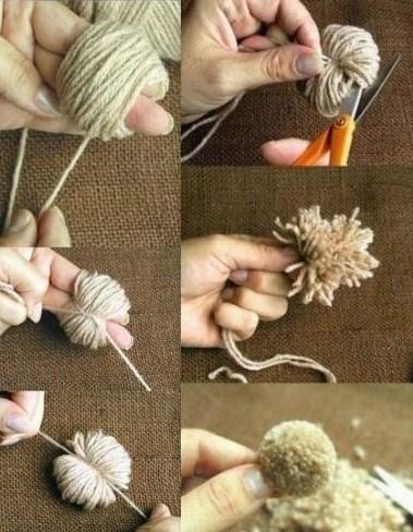 C est le pompon un peu facile - Pompon en laine avec carton ...
